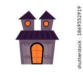 halloween castle haunted... | Shutterstock .eps vector #1869552919