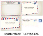 air mail  postal stamp and...   Shutterstock .eps vector #186956126