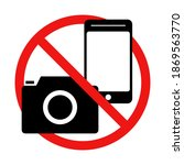 no taking pictures or no...   Shutterstock .eps vector #1869563770