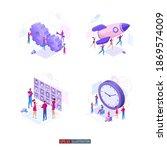 trendy flat illustration set.... | Shutterstock .eps vector #1869574009