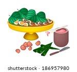 an illustration of ripe areca... | Shutterstock .eps vector #186957980