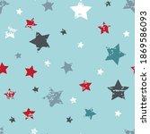 cute seamless star pattern.... | Shutterstock .eps vector #1869586093