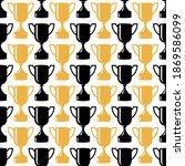 seamless awards pattern. gold... | Shutterstock .eps vector #1869586099