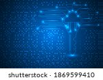 high security with digital key...   Shutterstock .eps vector #1869599410