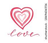 vector lettering illustration... | Shutterstock .eps vector #1869606556