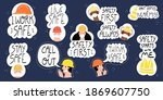 collection of hand drawn... | Shutterstock .eps vector #1869607750