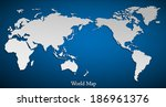 vector flat world map with... | Shutterstock . vector #186961376