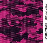 seamless camouflage pattern.... | Shutterstock .eps vector #1869619369