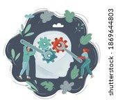 vector cartoon illustration of... | Shutterstock .eps vector #1869644803