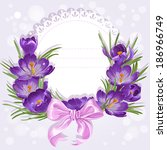 Openwork Card With Wreath Of...