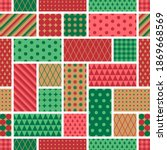 red and green geometric... | Shutterstock .eps vector #1869668569