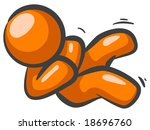 an orange man rocking back and... | Shutterstock . vector #18696760