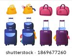 set of illustrations of luggage ...   Shutterstock .eps vector #1869677260