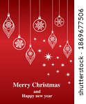 christmas concept graphic... | Shutterstock .eps vector #1869677506