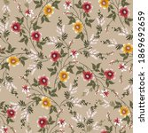 seamless small flower pattern... | Shutterstock .eps vector #1869692659