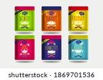 pet food ziplock pouch brand...   Shutterstock .eps vector #1869701536