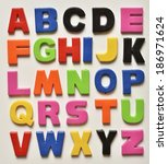 colorful letters of the alphabet | Shutterstock . vector #186971624