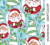 santa claus with snowflake ... | Shutterstock .eps vector #1869722239