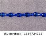 Stand Of Oval Blue Beads For...