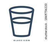 water glass icon design vector...