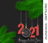 happy new year. numbers 2021... | Shutterstock .eps vector #1869761983