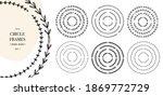 botanical circle frame set.... | Shutterstock .eps vector #1869772729