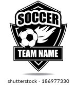 soccer badge icon symbol  | Shutterstock . vector #186977330