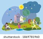 Happy Childhood. A Illustration ...