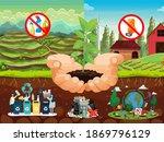 digital poster about soil...   Shutterstock . vector #1869796129