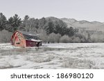 Rural Scene With Old Barn And...