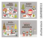set of vector christmas... | Shutterstock .eps vector #1869808513