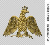 imperial eagle with a laurel... | Shutterstock .eps vector #1869815806