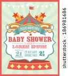 carnival baby shower invitation ... | Shutterstock .eps vector #186981686