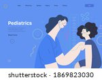 pediatrics   medical insurance  ... | Shutterstock .eps vector #1869823030