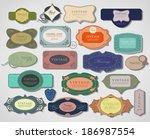 label  frame  ribbon in... | Shutterstock . vector #186987554