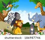 Stock photo wild animal cartoon 186987746