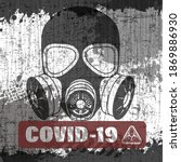 pandemic poster on covid 19... | Shutterstock .eps vector #1869886930
