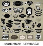 set of vintage retro labels can ... | Shutterstock . vector #186989060