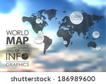 world map background in... | Shutterstock . vector #186989600
