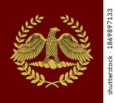 golden symbol of roman eagle... | Shutterstock .eps vector #1869897133