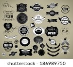 set of vintage retro labels can ... | Shutterstock . vector #186989750