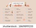 self care checklist. self love... | Shutterstock .eps vector #1869899233