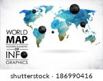 world map background in... | Shutterstock . vector #186990416