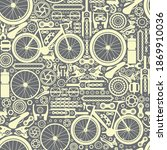 bicycle parts. seamless pattern ... | Shutterstock .eps vector #1869910036