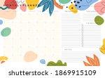 vector monthly planner template ...   Shutterstock .eps vector #1869915109