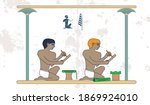 ancient egypt background. the...   Shutterstock .eps vector #1869924010