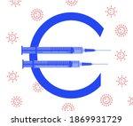 vaccine price or vaccine cost... | Shutterstock .eps vector #1869931729
