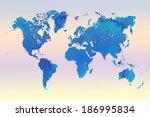world map grunge background | Shutterstock . vector #186995834