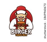 chef burger logo character... | Shutterstock .eps vector #1869960673