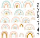 pastel stylish trendy rainbows...   Shutterstock .eps vector #1869960910
